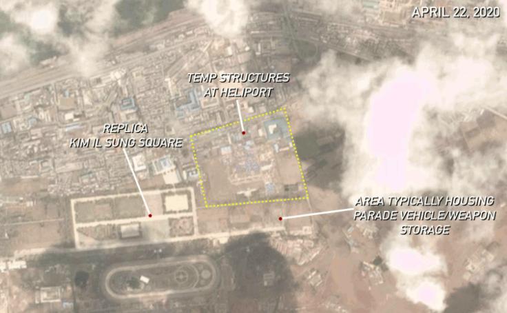 satellite image of military parade preparations