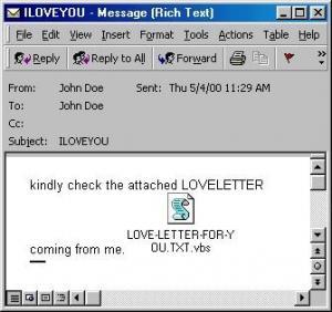 Love Bug Virus screenshot