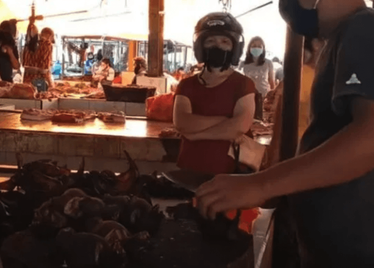 Tomohon wet market in indonesia