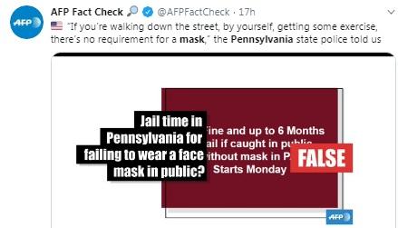 Pennsylvania mask rule