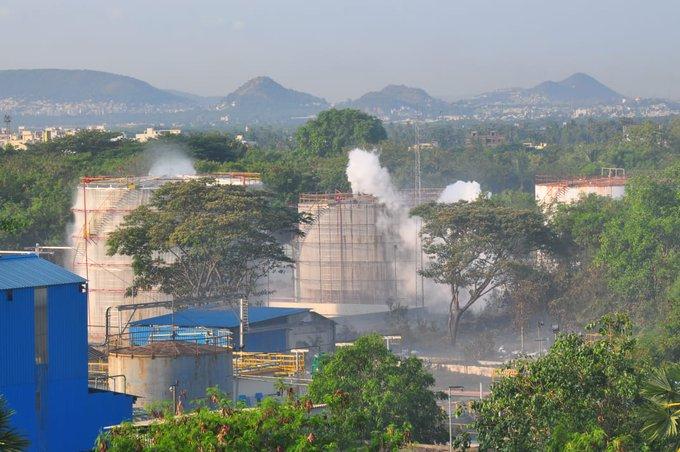 Gas leak in Vizag, Andhra Pradesh, India.