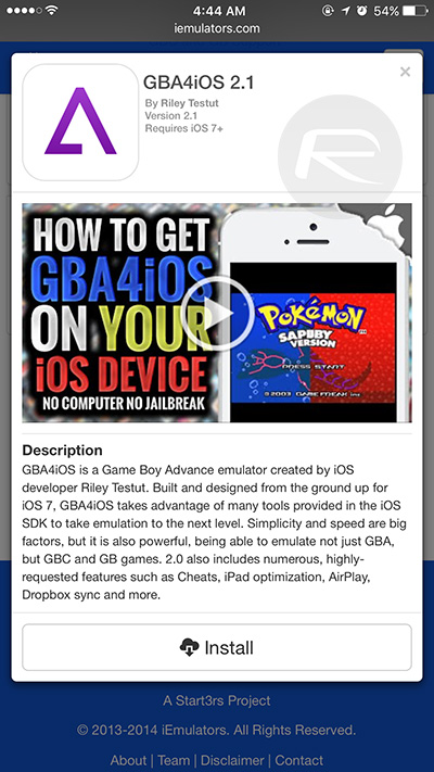 GBA4iOS - Game Boy Advance emulator