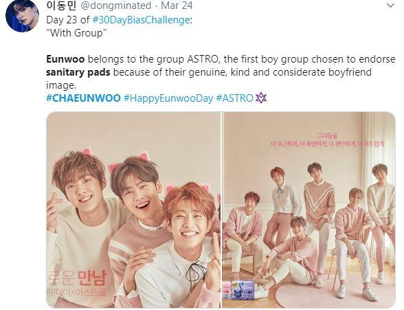 ASTRO promoting Secret Day products