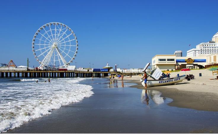 Beach in Atlantic City