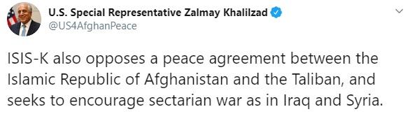 Zalmay Khalilzad tweet