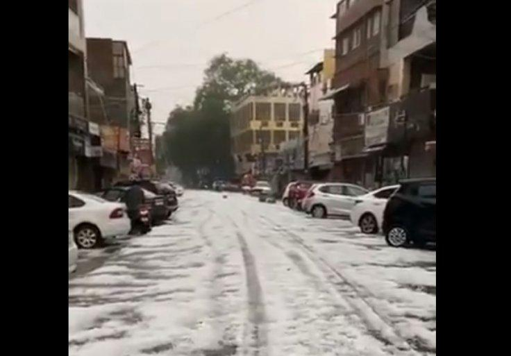 hailstorm in Delhi