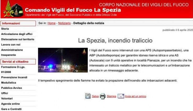 La Spezia fire brigade