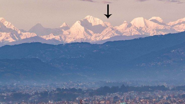 Mount Everest is now visible from Kathmandu valley