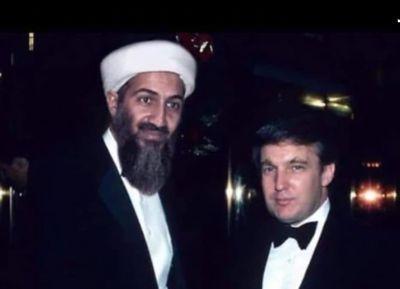 Bin Laden with Donald Trump