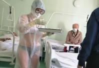 Nurse Wears Transparent Gown In Coronavirus Ward