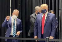 Donald Trump during the Ford facility visit