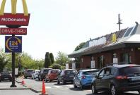 Dozens of cars spotted at McDonald's drive-through