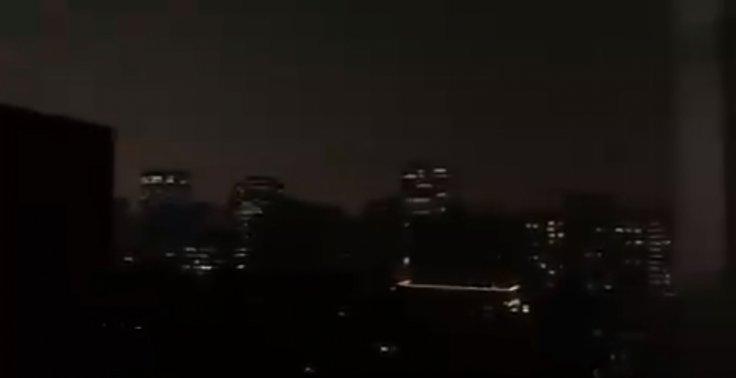 Beijing sky turned dark