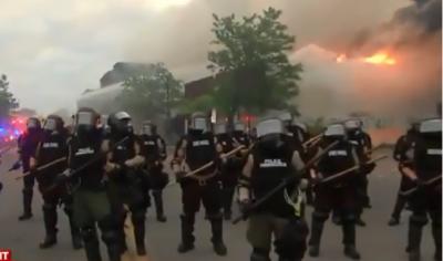 Minneapolis burning