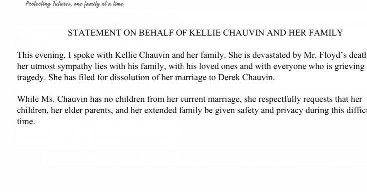 Derek Chauvin's wife's statement