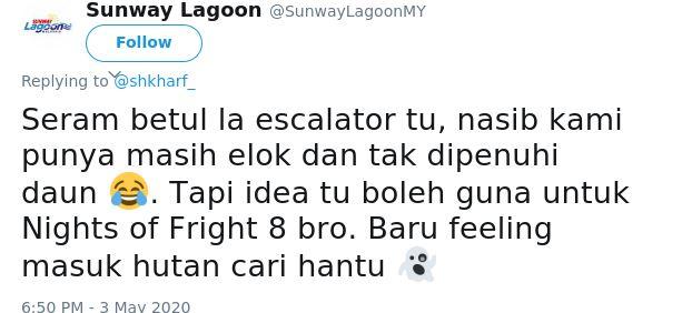 Sunway Lagoon tweet