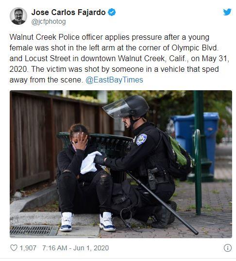 Walnut creek woman shot