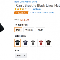 I can't breathe t shirt