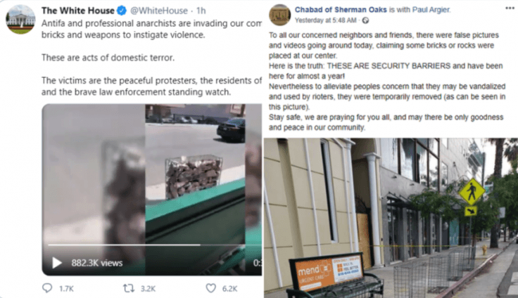 White House shares fake video