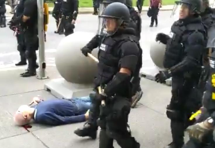 Elderly Protestor Pushed by Buffalo Police