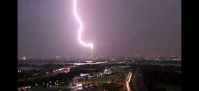 Washington Monument Lightning Strike