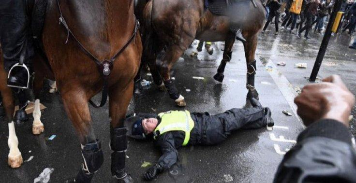 Police Fell From Horse
