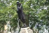 Edward Colston statue toppled