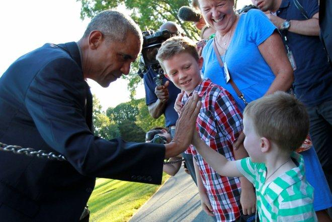 Obama with baby