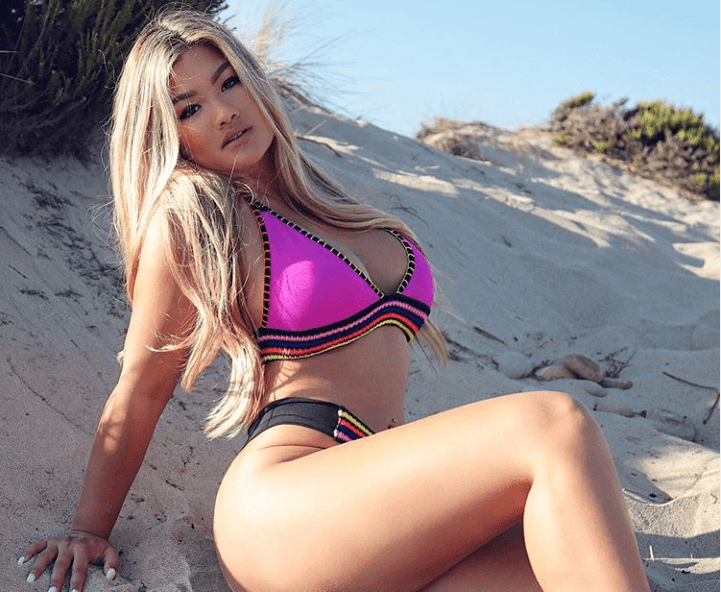 Jojo Babie's in Pink Bikini is Too Hot to Handle