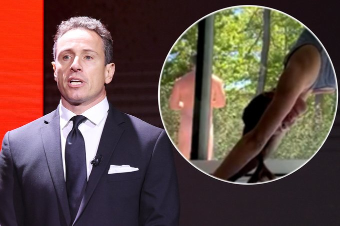 Chris Cuomo Caught Naked In Wife S Live Yoga Video Twitter Calls It Publicity Stunt