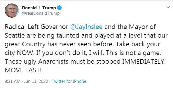 Trump Seattle tweet