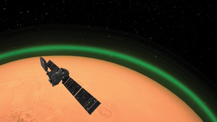 Mars' Atmospheric Glow