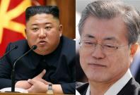 Kim Jong Un and Moon Jae In