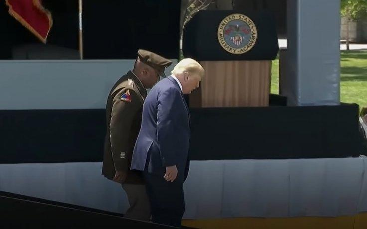 Donald Trump West Point ramp walk