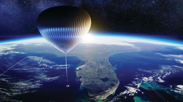 Space Perspective Full Balloon At High Altitude