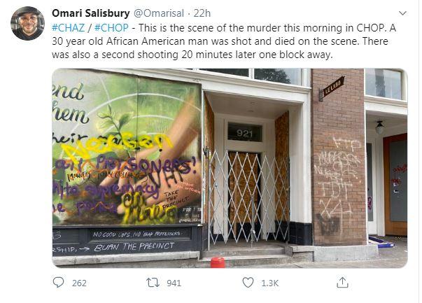 Omari Salisbury Tweet