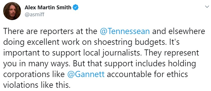 Tennessean ad outrage