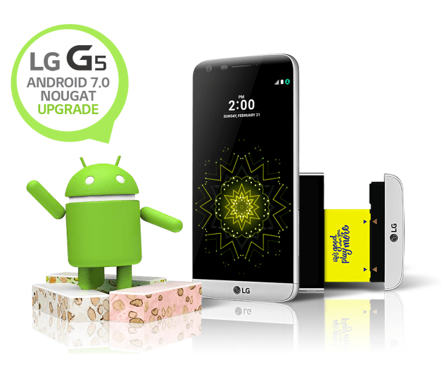 LG G5 gets Nougat upgrade