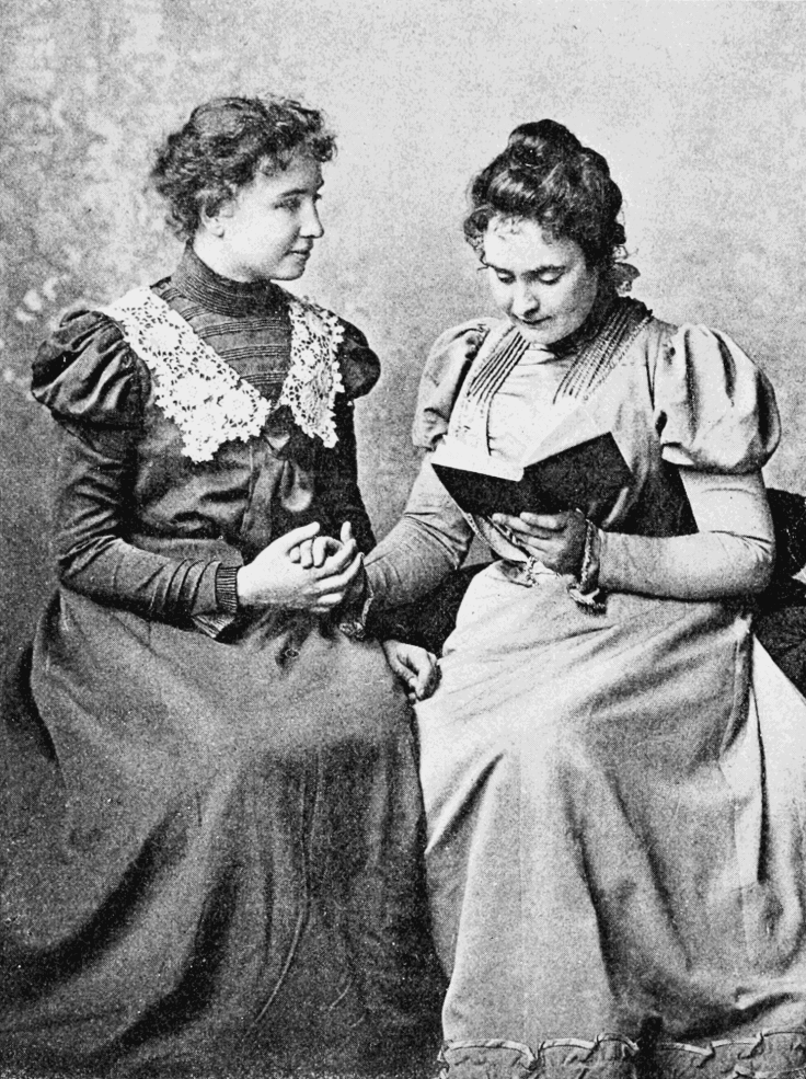 Kellen Keller and Anne Sullivan