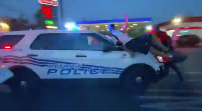 Detroit cop plows into crowd during Black Lives Matter rally