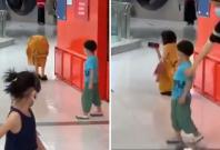Beijing woman meltdown inside mall