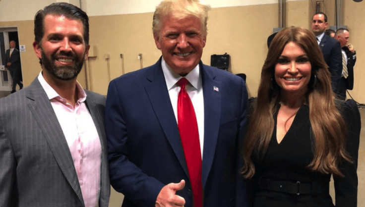 Kimberly Guilfoyle with the Trumps