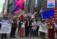 Boycott China protests at Times Square