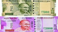 New Indian currency - Denominations of Rs. 500 and Rs. 1000