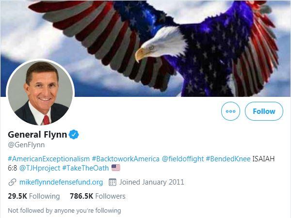 Michael Flynn Twitter bio