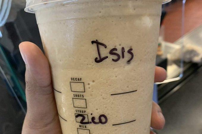 ISIS cup Aishah