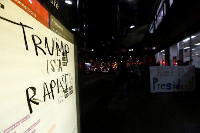 Rally against Trump