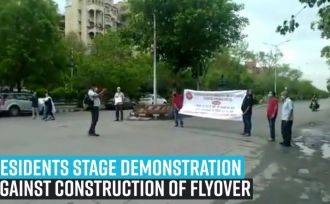 residents-stage-demonstration-against-construction-of-flyover-in-dwarka