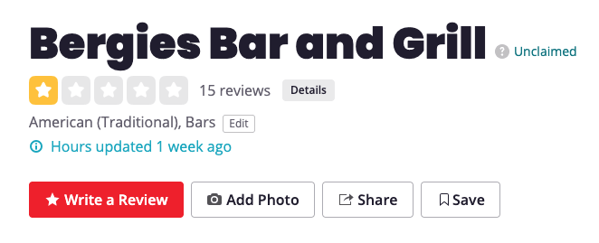 Bergie's Bar and Grill