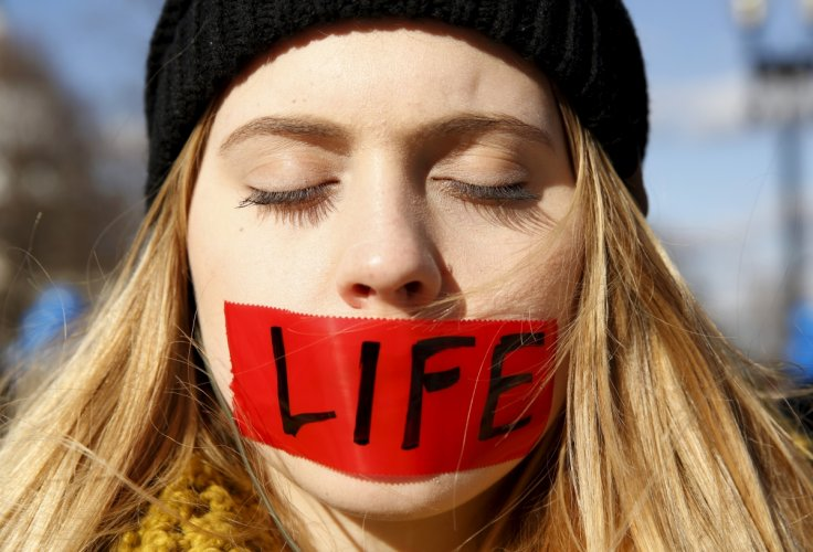 pro-life protest in the US